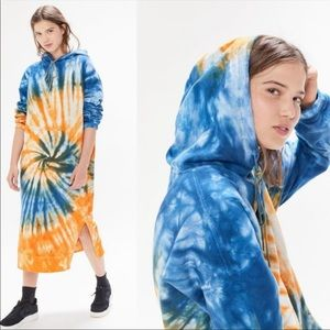 Urban Outfitters UO Oversized Tie-Dye Hoodie Dress